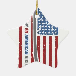 An American Viking - Valhalla Pride Ceramic Star Ornament