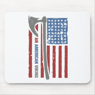 An American Viking - Valhalla Pride Mouse Pad