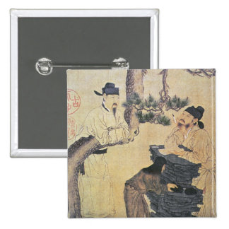 An Ancient Chinese Poet 2 Inch Square Button