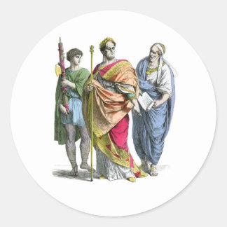An ancient roman emperor round sticker