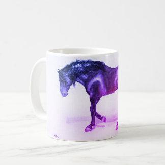 An andalusian HORSE, walking, handpainted stallion Coffee Mug