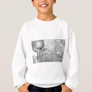 An Angel Cries Over A Skull Sweatshirt