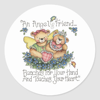 An Angel Friend Touches Your Heart Sticker