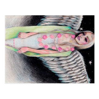 An Angel Original Art Illustration Kim Turner Art Postcard
