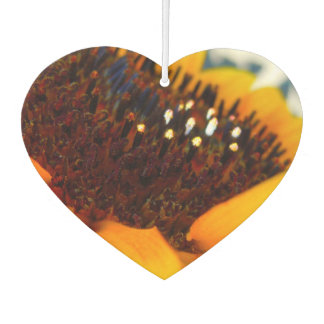 An Angled Sunflower Car Air Freshener