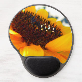 An Angled Sunflower Gel Mouse Pad