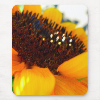 An Angled Sunflower Mouse Pad