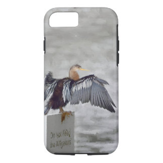An Anhinga Bird Drying Their Wings Out iPhone 8/7 Case