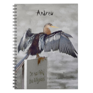 An Anhinga Bird Drying Their Wings Out Spiral Notebook