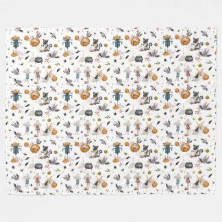 An Animal's Halloween Fleece Blanket