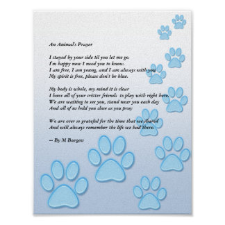 An Animal's Prayer - Poster