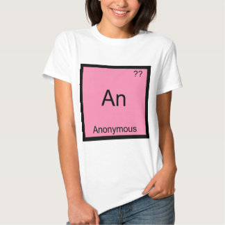 An - Anonymous Funny Chemistry Element Symbol Tee
