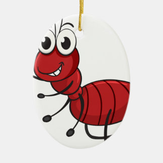 an ant ceramic oval ornament