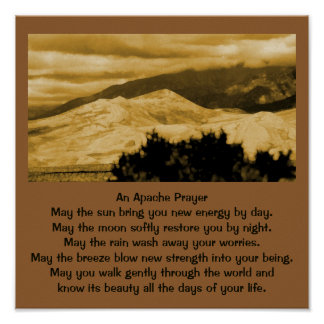 An Apache prayer Poster