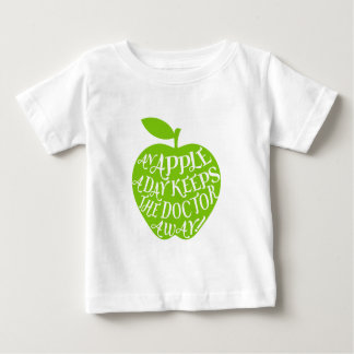An apple a day keeps the doctor away baby T-Shirt