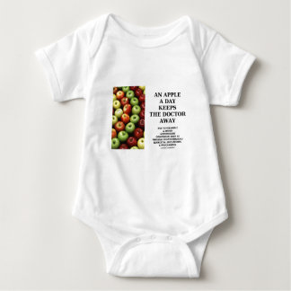 An Apple A Day Keeps The Doctor Away (Food Advice) Baby Bodysuit