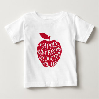 An apple a day keeps the doctor away tee shirt