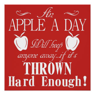 An Apple A Day Perfect Poster