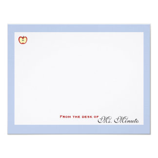 An Apple A Day Personalized Stationery Card