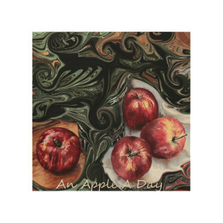 An Apple A Day. Wood Print