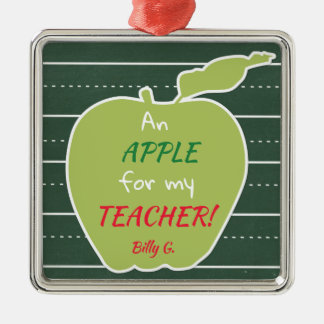 An Apple For My Teacher Metal Ornament