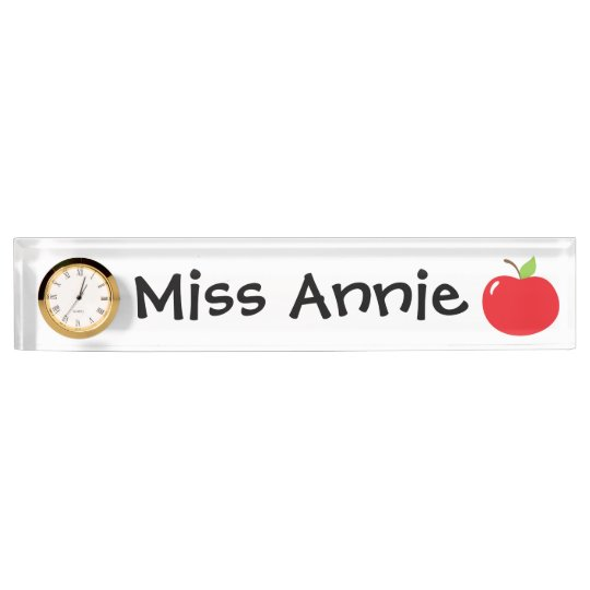 An Apple For Teacher Nameplates