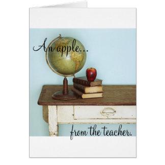 An Apple FROM the Teacher Card