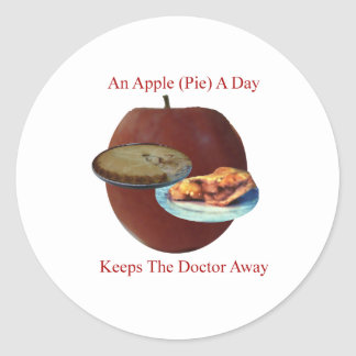 An Apple (Pie) A Day Round Sticker