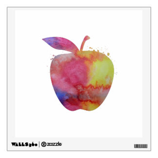 An apple wall sticker