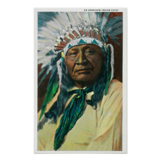 An Arapahoe Indian Chief PortraitColorado Poster