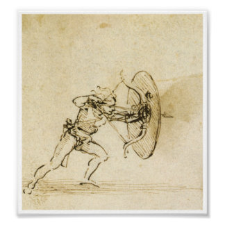 An Archer with a Shield, Leonardo da Vinci Poster