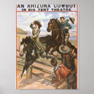 An Arizona Cowboy Retro Theater Poster