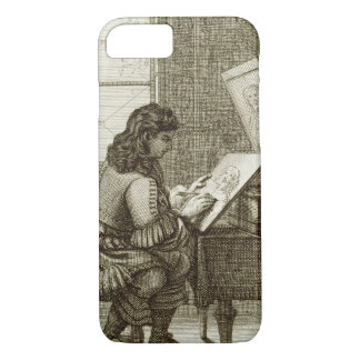 An artist copying onto an engraving plate, printed iPhone 7 case