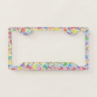An Artist's Palette License Plate Frame