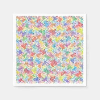 An Artist's Palette Paper Napkins