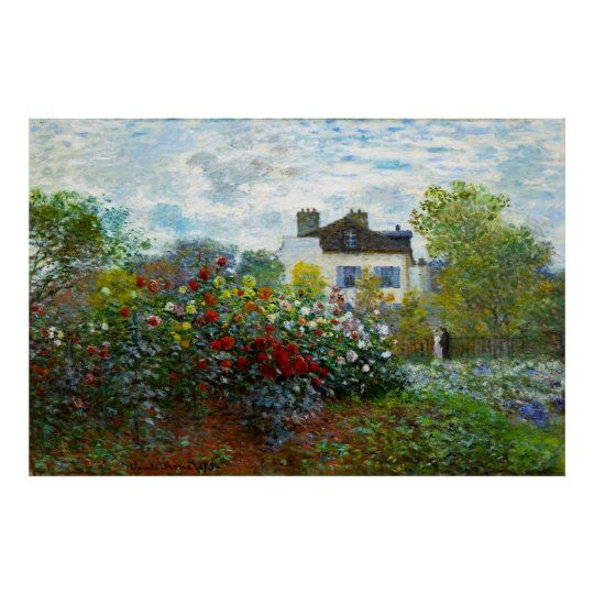An Artist's Garden Poster (in many sizes)