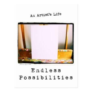 An Artist's Life: Endless Possibilities Postcard