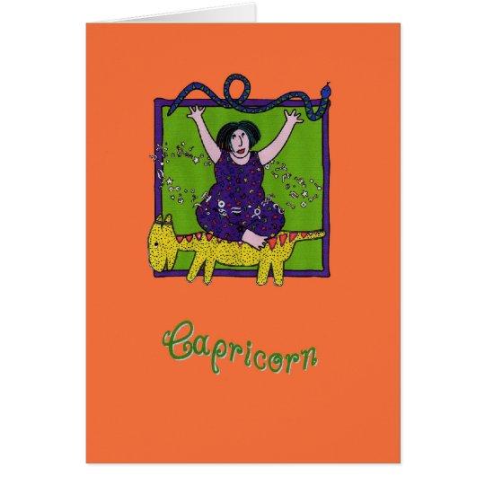 An Artsy Capricorn Greeting Card