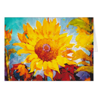 An Artsy Yellow Sunflower Card