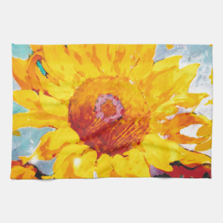 An Artsy Yellow Sunflower Kitchen Towel
