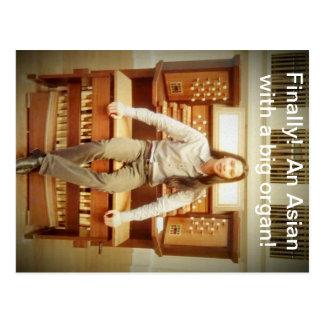 an Asian with a big organ Postcard