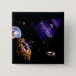 An asteroid mining mission 2 inch square button