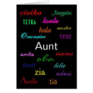 """""""An Aunt's Birthday I"""" Card - Customizable"""