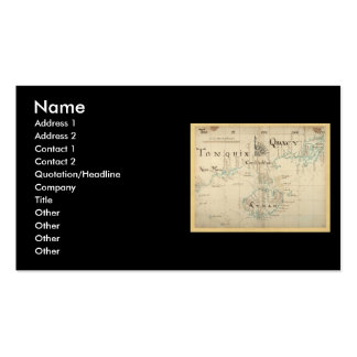 An Authentic 1690 Pirate Map Business Card