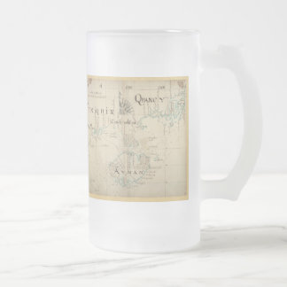 An Authentic 1690 Pirate Map Frosted Glass Beer Mug