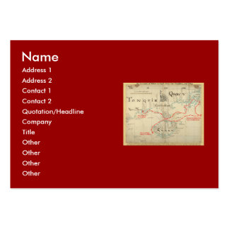 An Authentic 1690 Pirate Map (with embellishments) Business Card Template