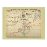 An Authentic 1690 Pirate Map (with embellishments) Postcard