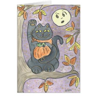An Autumn Good Luck Wish with Verse Inside Card