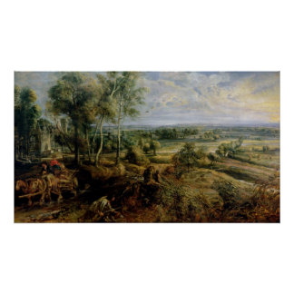 An Autumn Landscape with a view of Het Steen Poster