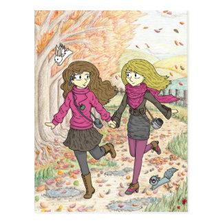 An Autumn Walk Postcard